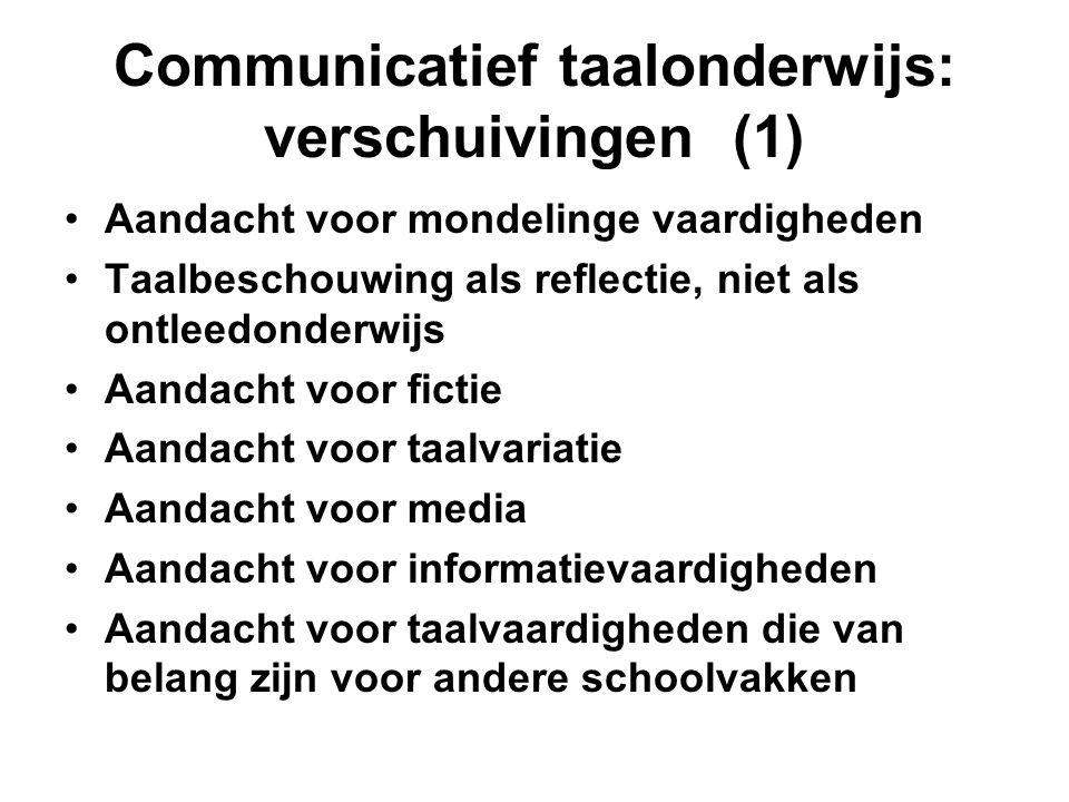 Communicatief taalonderwijs: verschuivingen (1)