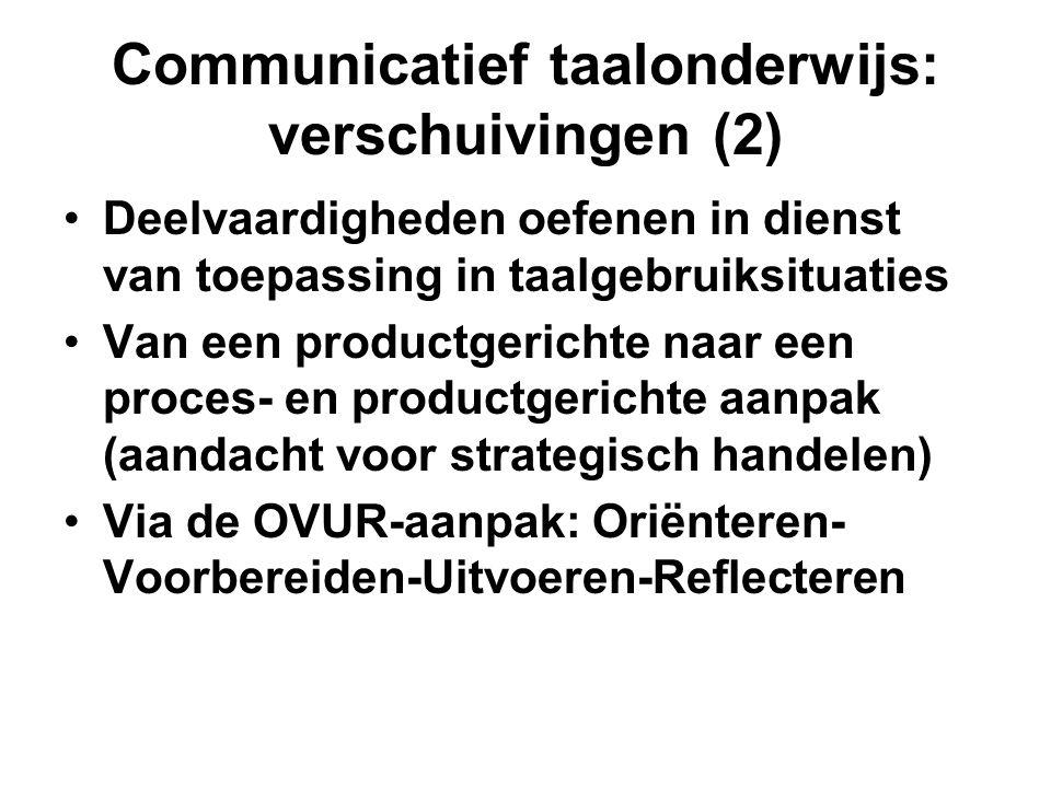 Communicatief taalonderwijs: verschuivingen (2)