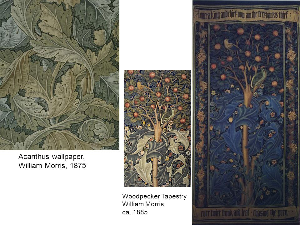 Acanthus wallpaper, William Morris, 1875
