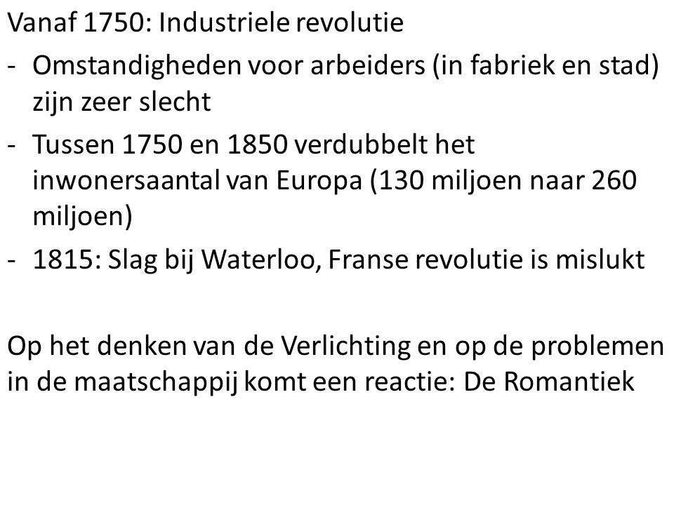 Vanaf 1750: Industriele revolutie
