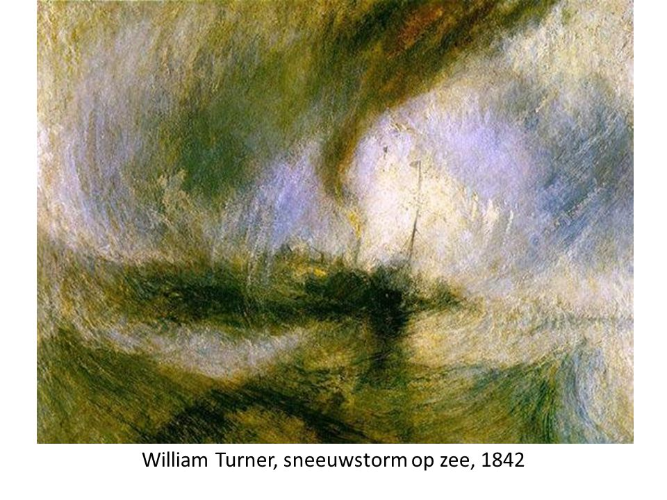 William Turner, sneeuwstorm op zee, 1842