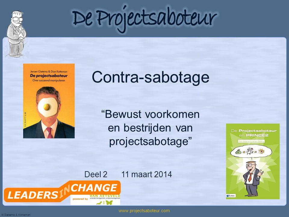 Bewust voorkomen en bestrijden van projectsabotage