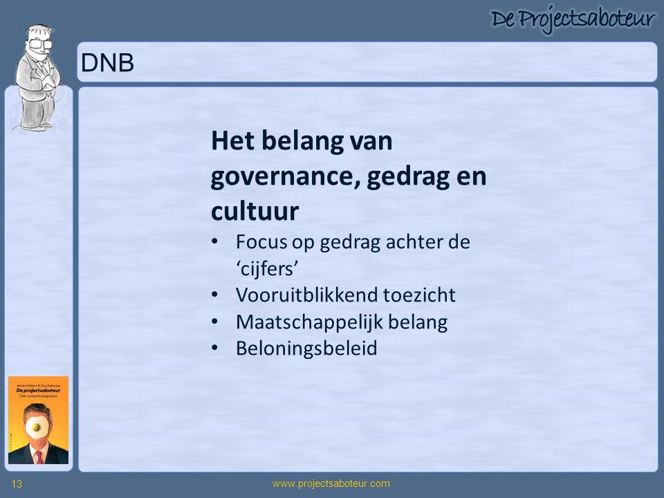 Het belang van governance, gedrag en cultuur