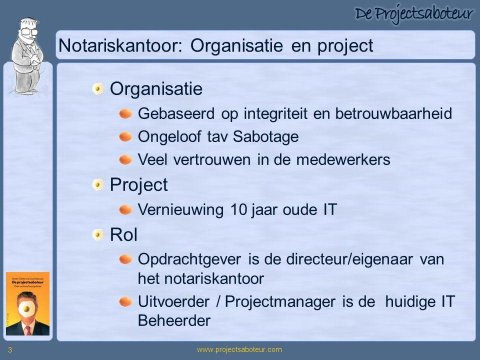 Notariskantoor: Organisatie en project