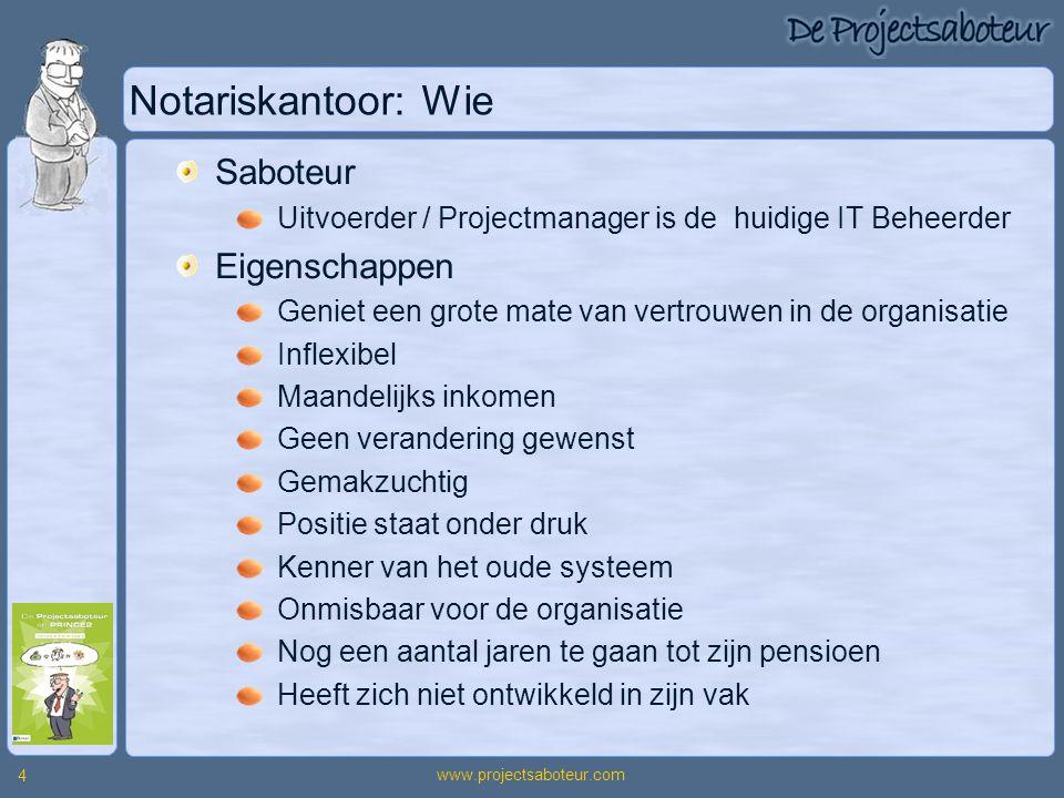 Notariskantoor: Wie Saboteur Eigenschappen