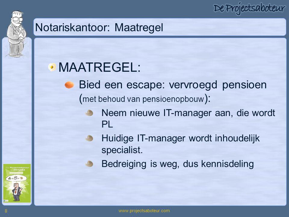 Notariskantoor: Maatregel