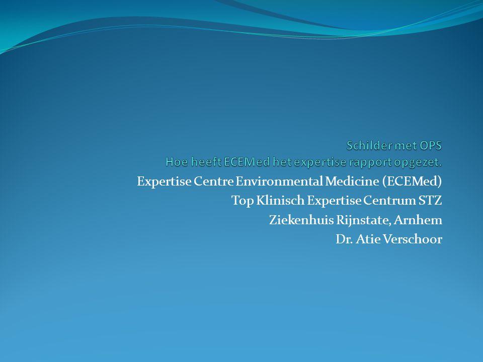 Schilder met OPS Hoe heeft ECEMed het expertise rapport opgezet.