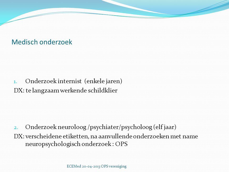 Medisch onderzoek Onderzoek internist (enkele jaren)