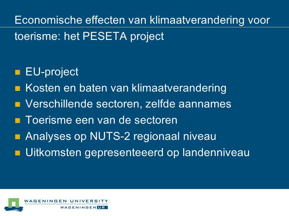 Economische effecten van klimaatverandering voor toerisme: het PESETA project