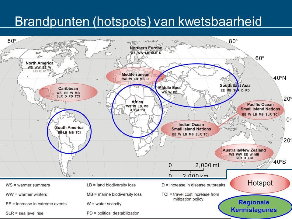Brandpunten (hotspots) van kwetsbaarheid