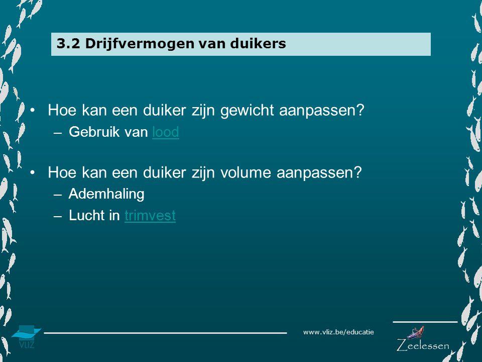 3.2 Drijfvermogen van duikers