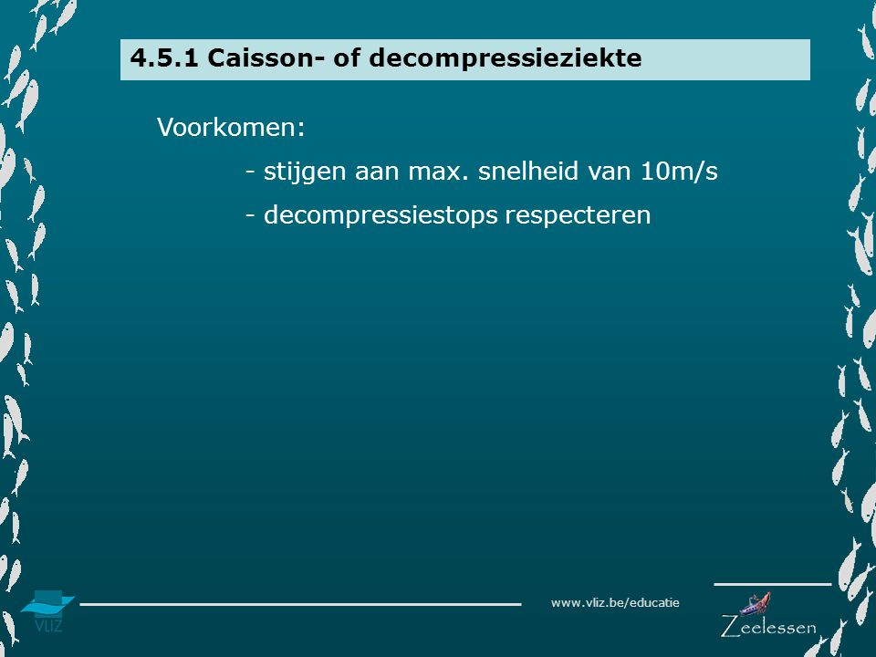 4.5.1 Caisson- of decompressieziekte