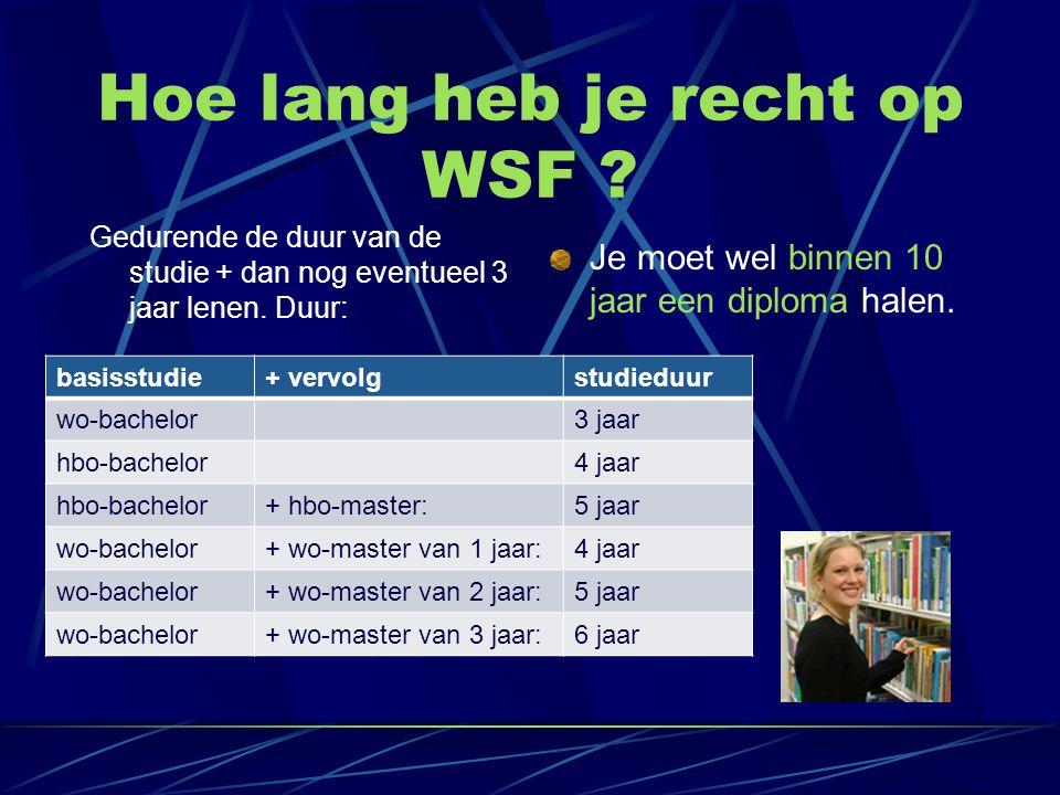 Hoe lang heb je recht op WSF
