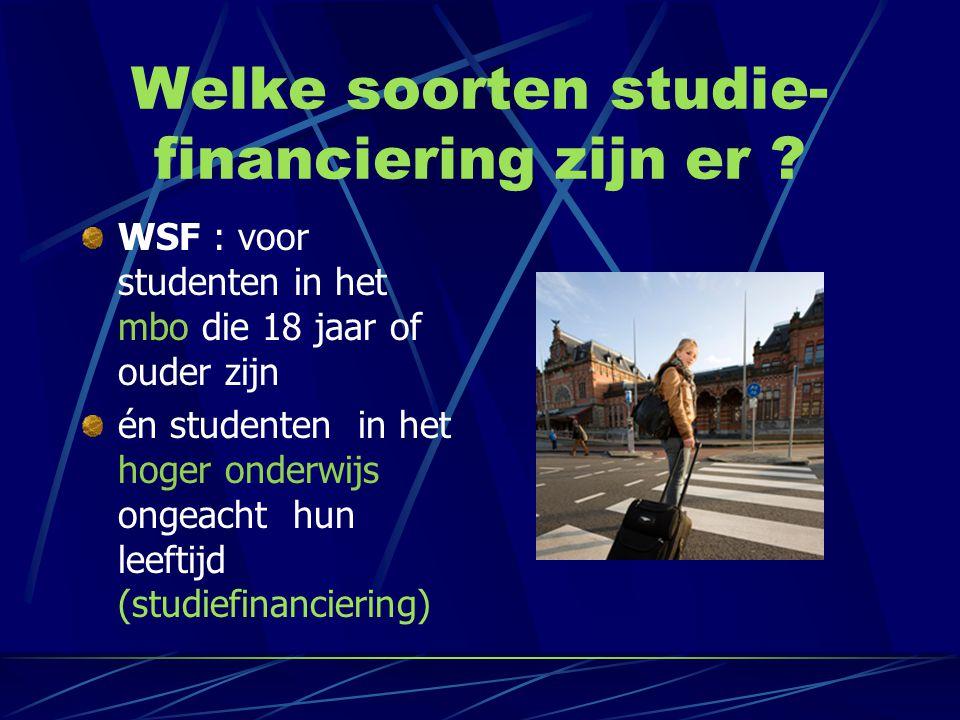 Welke soorten studie-financiering zijn er