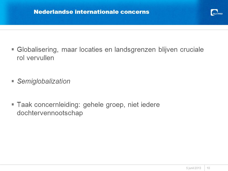 Nederlandse internationale concerns
