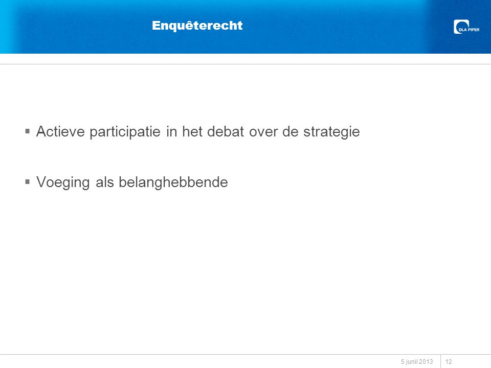 Actieve participatie in het debat over de strategie