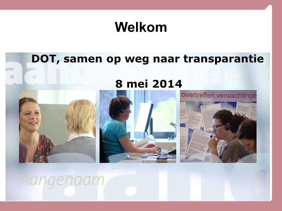 DOT, samen op weg naar transparantie 8 mei 2014