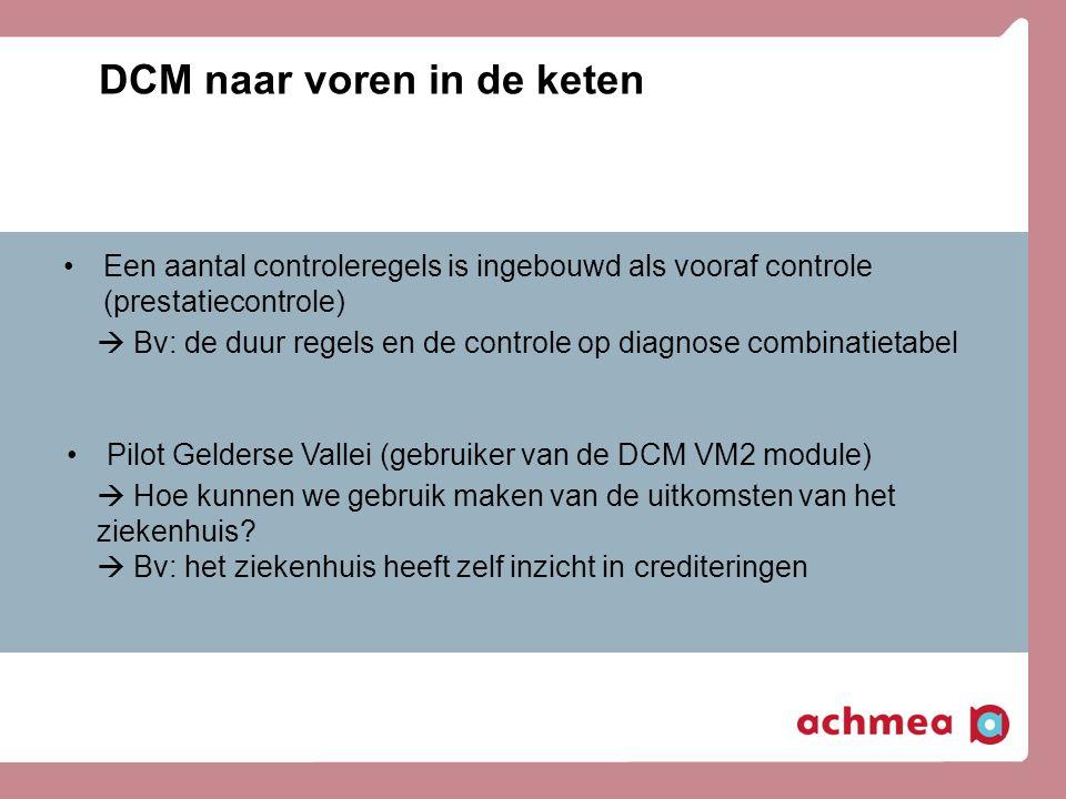 DCM naar voren in de keten