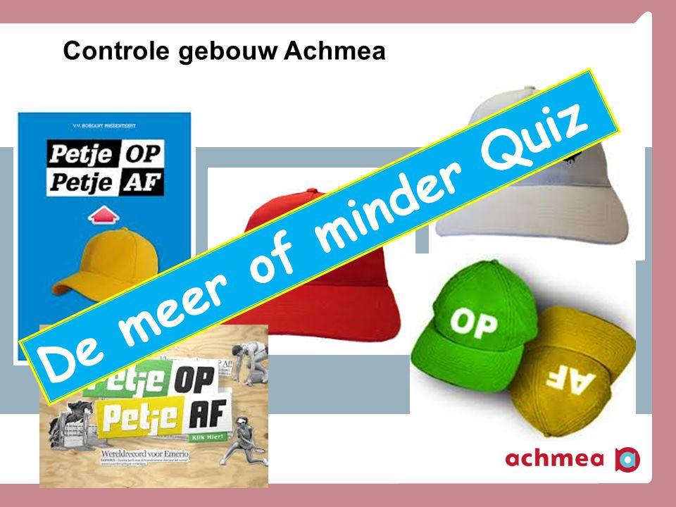 Controle gebouw Achmea
