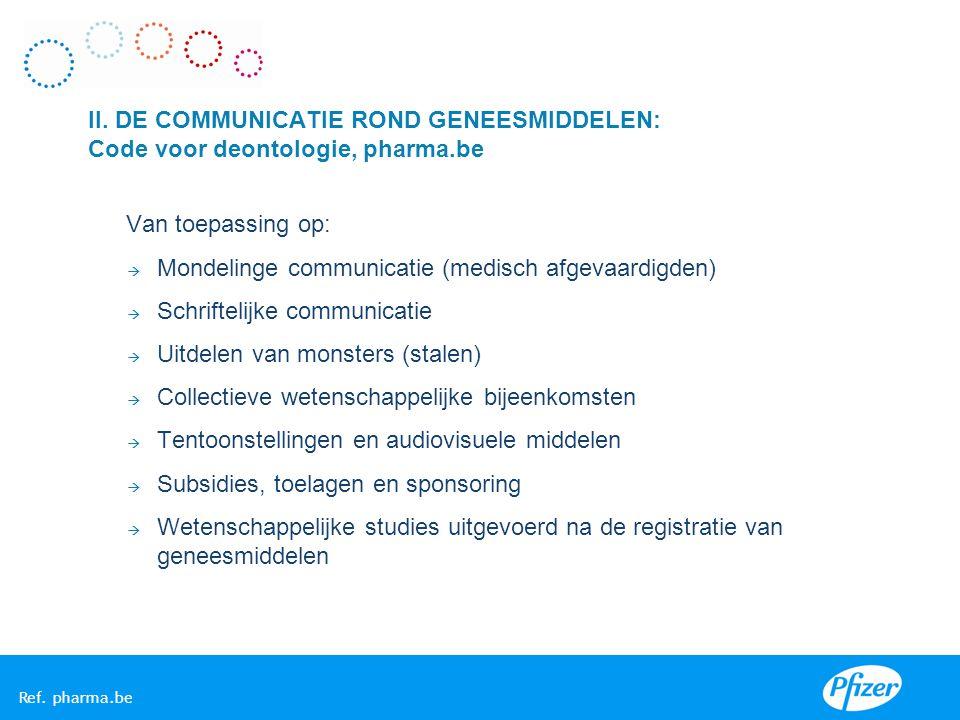 Mondelinge communicatie (medisch afgevaardigden)