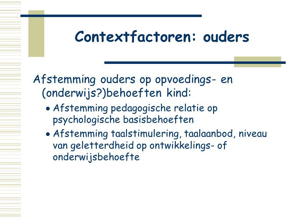 Contextfactoren: ouders