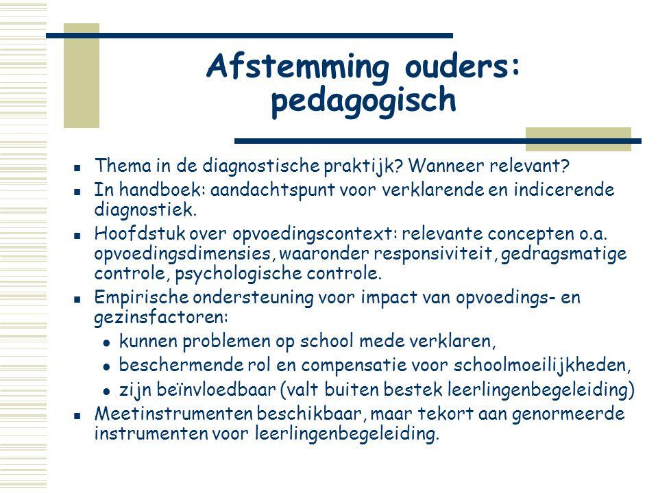 Afstemming ouders: pedagogisch