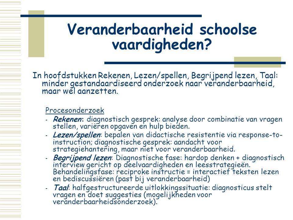 Veranderbaarheid schoolse vaardigheden