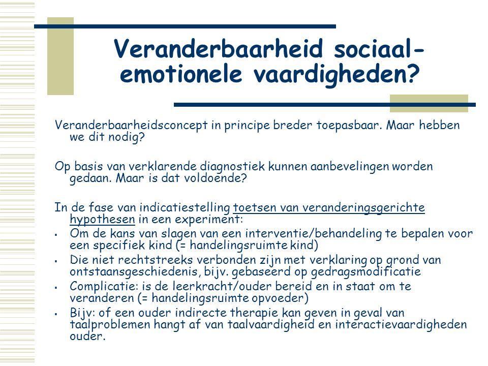 Veranderbaarheid sociaal-emotionele vaardigheden