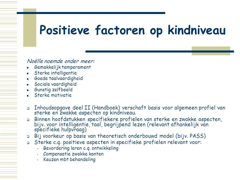 Positieve factoren op kindniveau