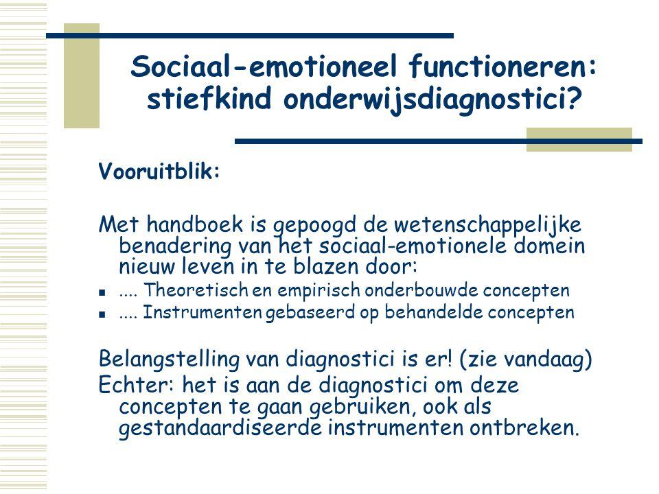Sociaal-emotioneel functioneren: stiefkind onderwijsdiagnostici