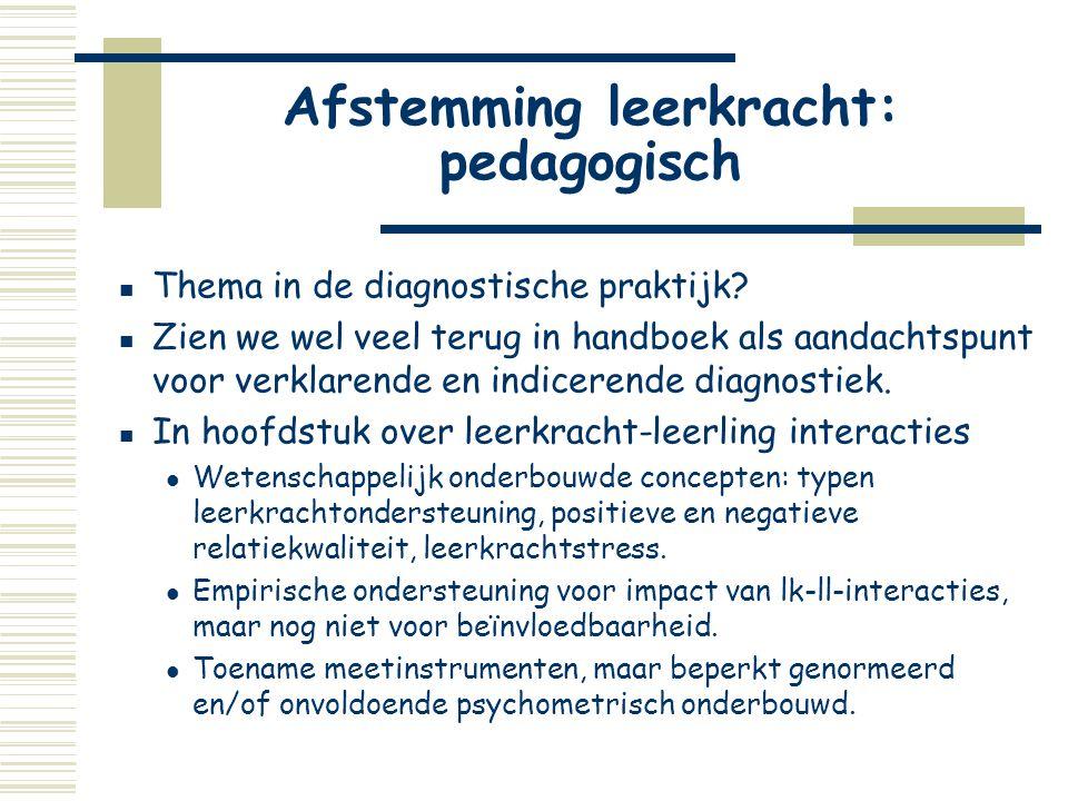 Afstemming leerkracht: pedagogisch
