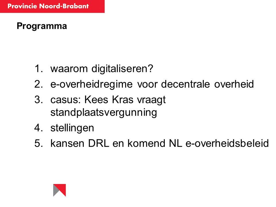 e-overheidregime voor decentrale overheid