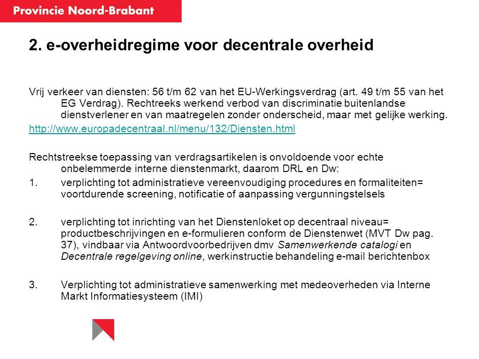 2. e-overheidregime voor decentrale overheid