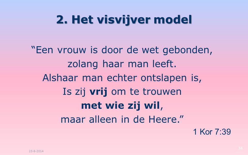 2. Het visvijver model Een vrouw is door de wet gebonden,