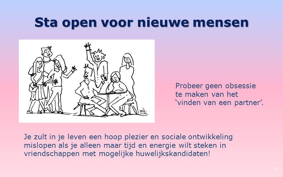 Sta open voor nieuwe mensen
