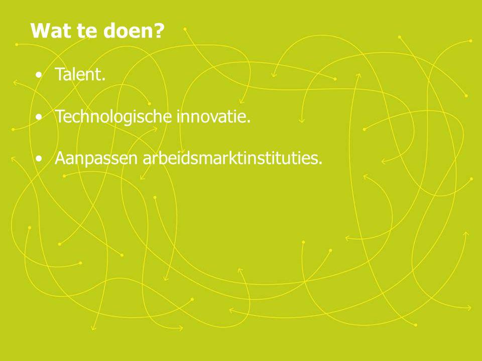 Wat te doen Talent. Technologische innovatie.