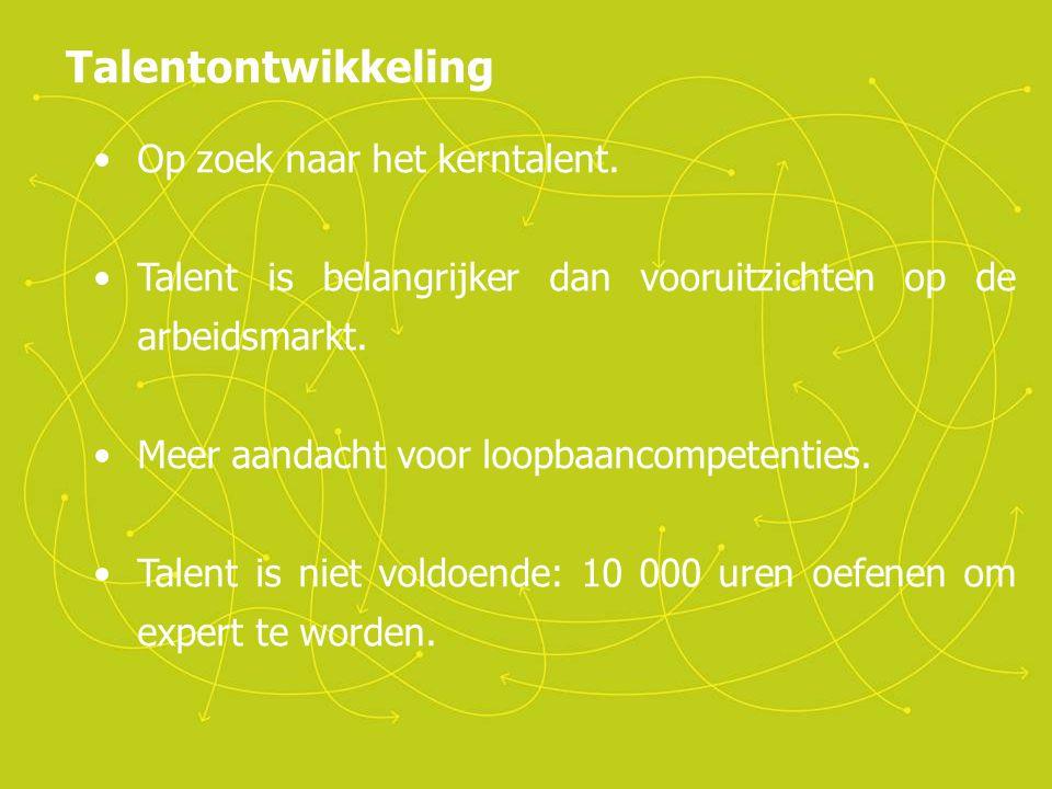 Talentontwikkeling Op zoek naar het kerntalent.