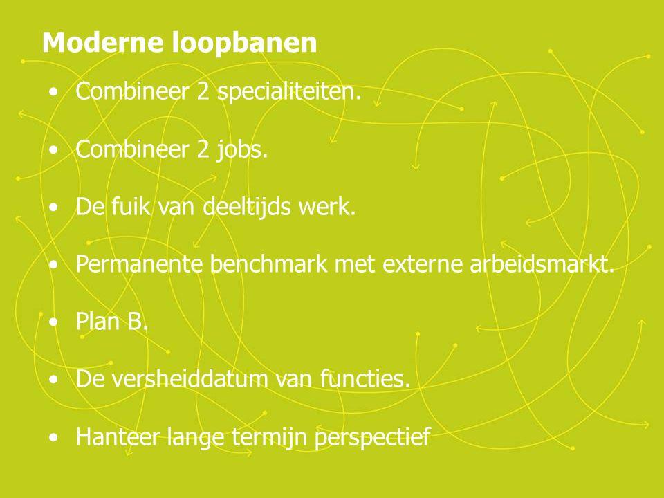 Moderne loopbanen Combineer 2 specialiteiten. Combineer 2 jobs.