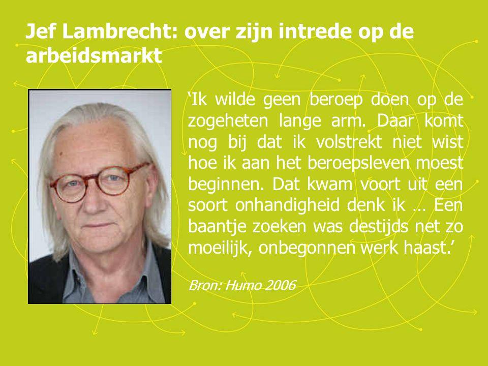 Jef Lambrecht: over zijn intrede op de arbeidsmarkt