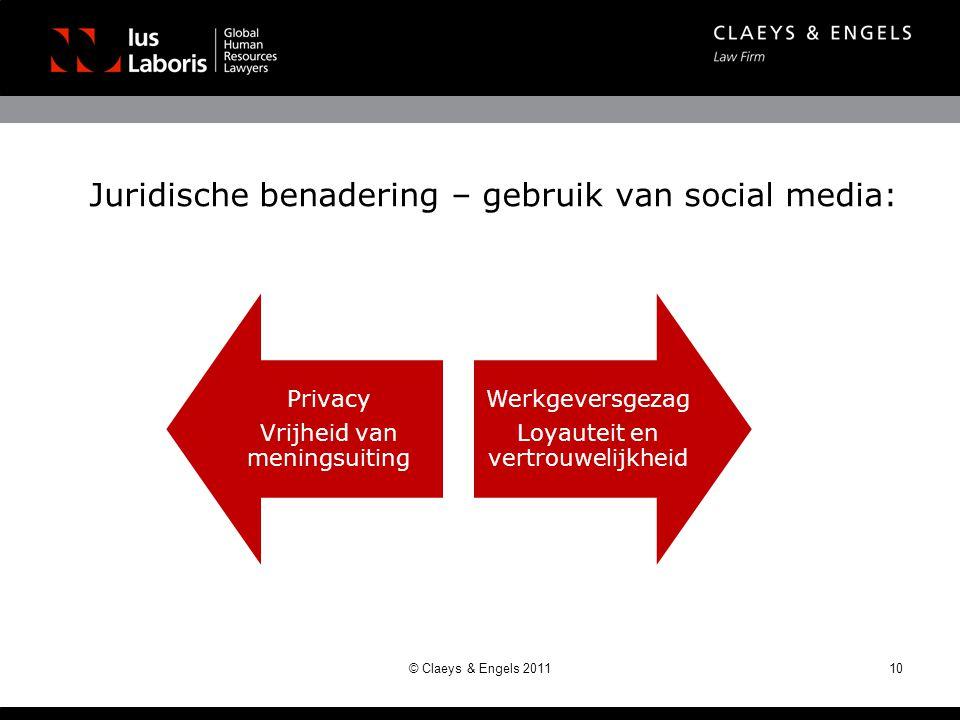 Juridische benadering – gebruik van social media: