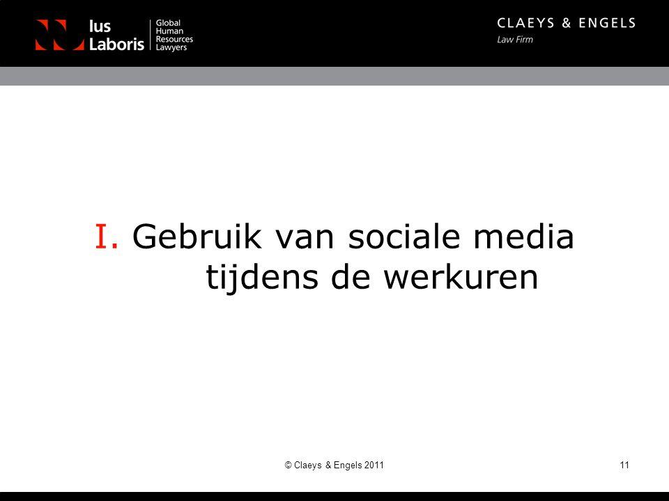 I. Gebruik van sociale media tijdens de werkuren