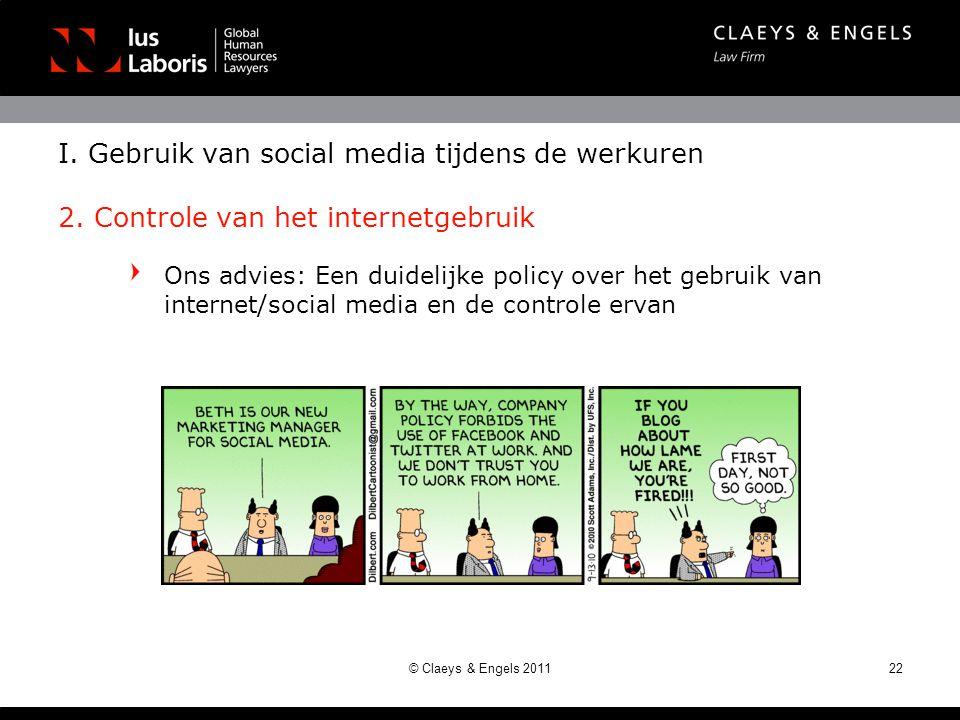 I. Gebruik van social media tijdens de werkuren 2