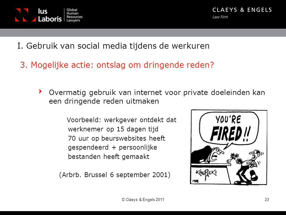 I. Gebruik van social media tijdens de werkuren 3