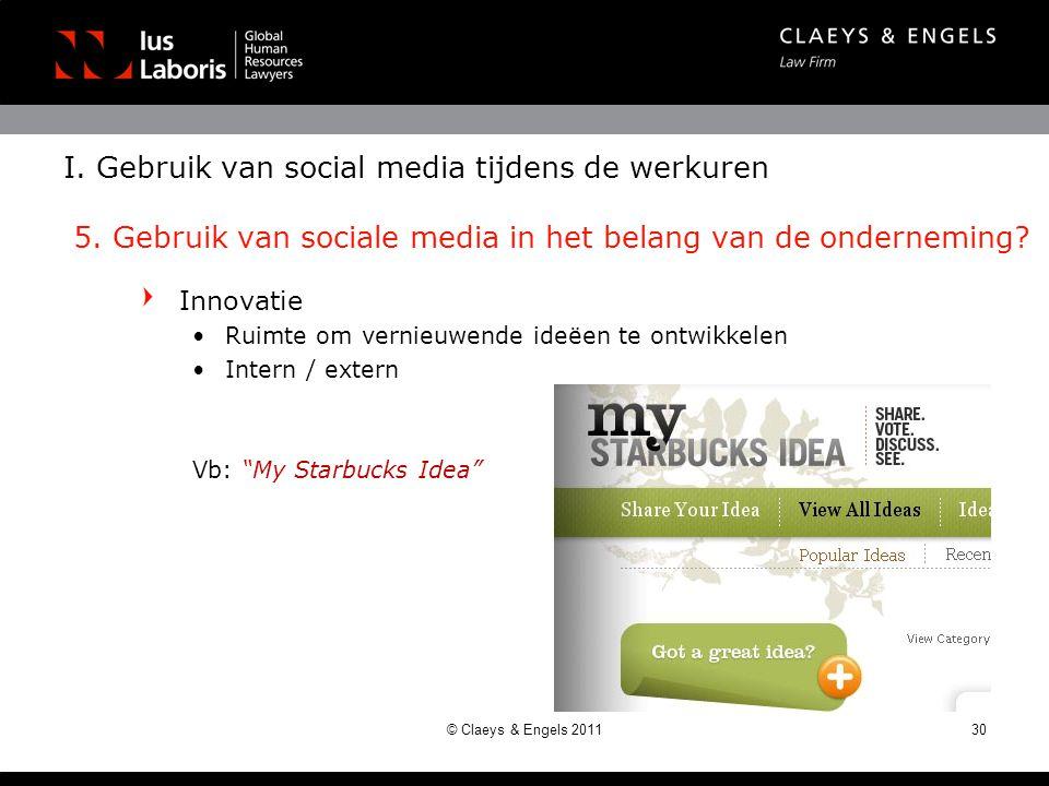 I. Gebruik van social media tijdens de werkuren 5