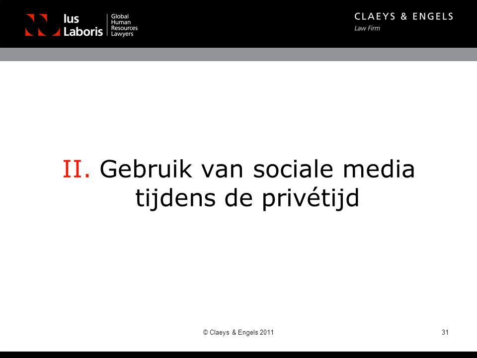 II. Gebruik van sociale media tijdens de privétijd