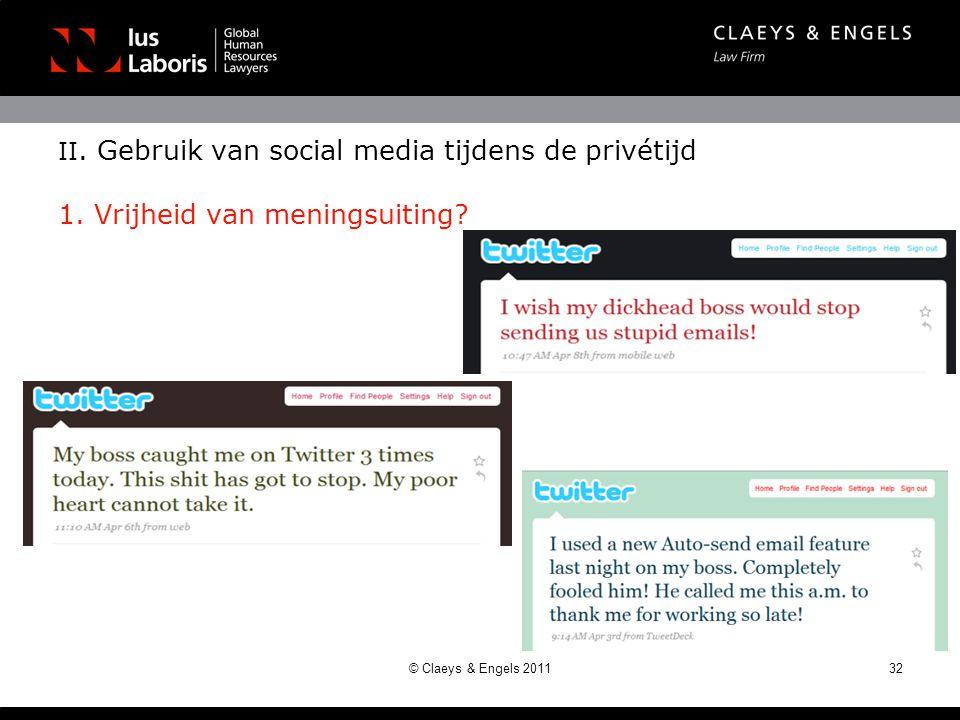II. Gebruik van social media tijdens de privétijd 1
