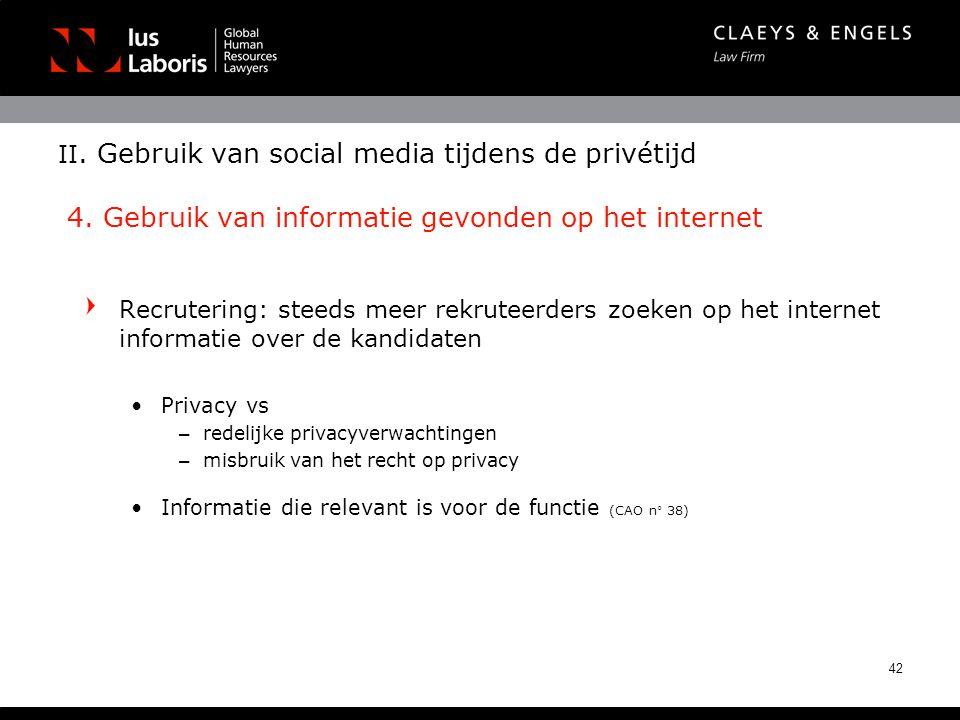 II. Gebruik van social media tijdens de privétijd 4