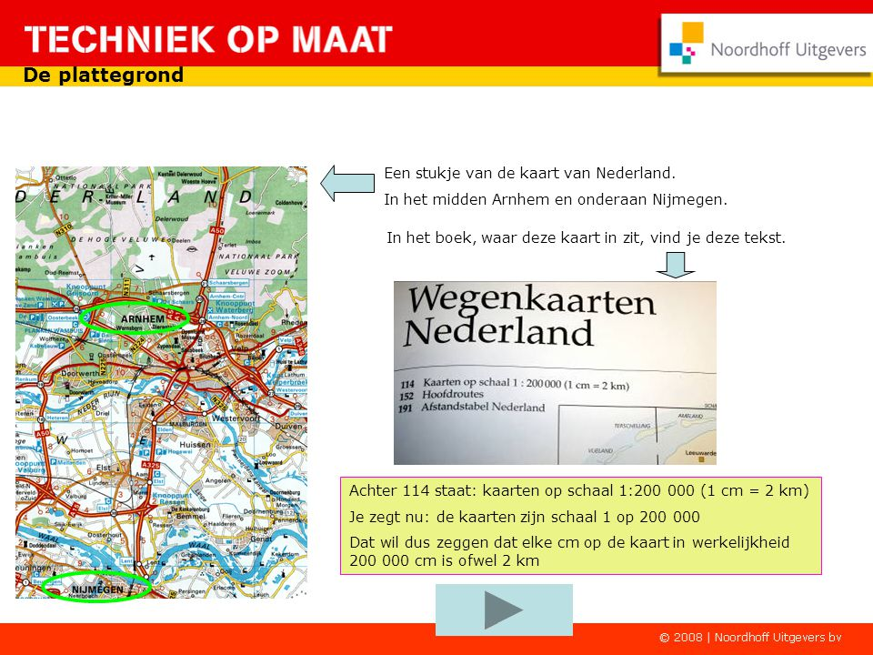De plattegrond Een stukje van de kaart van Nederland.