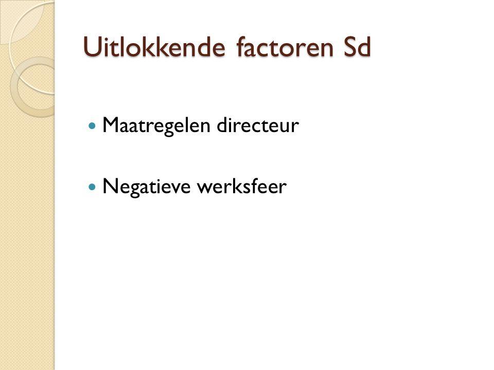 Uitlokkende factoren Sd