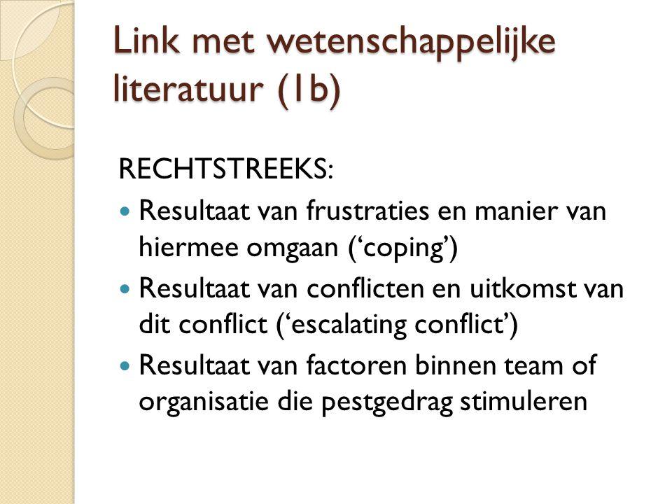 Link met wetenschappelijke literatuur (1b)
